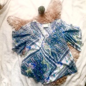 Maeve Anthropologie Floral Blouse